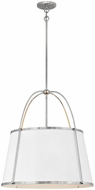 Hinkley 4895PN Clarke Contemporary Polished Nickel Pendant Light Fixture