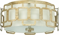 Hinkley 4911SL Sabina Contemporary Silver Leaf Flush Ceiling Light Fixture