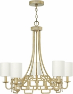 Hinkley 4915SL Sabina Contemporary Silver Leaf Ceiling Chandelier