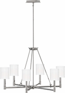 Hinkley 4985PN Buchanan Modern Polished Nickel Ceiling Chandelier