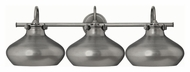 Hinkley 50038AN Congress Vintage Antique Nickel Finish 10.5  Tall 3 Light Bathroom Lighting Fixture