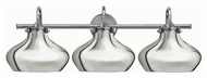 Hinkley 50038CM Congress Vintage Chrome Finish 10.5  Tall 3 Light Vanity Light