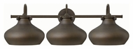 Hinkley 50038OZ Congress Retro Oil Rubbed Bronze Finish 31  Wide 3 Light Bath Light Fixture