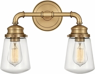 Hinkley 5032HB Fritz Modern Heritage Brass 2-Light Bathroom Lighting