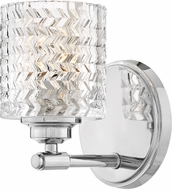 Hinkley 5040CM Elle Contemporary Chrome Light Sconce