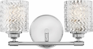 Hinkley 5042CM Elle Modern Chrome 2-Light Bathroom Lighting