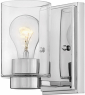 Hinkley 5050CM-CL Miley Modern Chrome with Clear Lamp Sconce