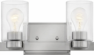 Hinkley 5052BN-CL Miley Contemporary Brushed Nickel with Clear 2-Light Bathroom Light