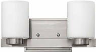 Hinkley 5052BN-LED Miley Contemporary Brushed Nickel LED 2-Light Bathroom Wall Sconce