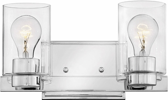 info for ef176 0bdd7 Hinkley 5052CM-CL Miley Modern Chrome with Clear 2-Light Bathroom Lighting  Fixture