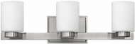 Hinkley 5053BN-LED Miley Contemporary Brushed Nickel LED 3-Light Bathroom Sconce Lighting