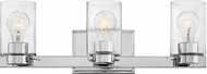 Hinkley 5053CM-CL Miley Modern Chrome with Clear 3-Light Vanity Light