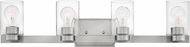 Hinkley 5054BN-CL Miley Contemporary Brushed Nickel with Clear 4-Light Bath Light Fixture