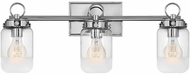 Hinkley 5063PN Penley Contemporary Polished Nickel 3-Light Bath Lighting