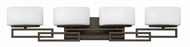 Hinkley 5104KZ Lanza Buckeye Bronze Halogen 4-Light Bathroom Light Fixture