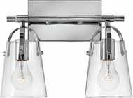 Hinkley 5132CM Foster Contemporary Chrome 2-Light Bath Light Fixture