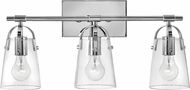 Hinkley 5133CM Foster Modern Chrome 3-Light Vanity Lighting Fixture