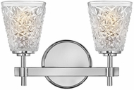 Hinkley 5152CM Amabelle Contemporary Chrome 2-Light Bathroom Sconce