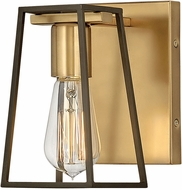 Hinkley 5160HB Filmore Contemporary Heritage Brass / Oil Rubbed Bronze Wall Light Fixture