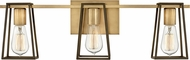 Hinkley 5163HB Filmore Contemporary Heritage Brass / Oil Rubbed Bronze 3-Light Bath Sconce