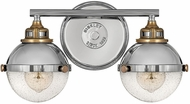 Hinkley 5172PN Fletcher Contemporary Polished Nickel 2-Light Bath Wall Sconce