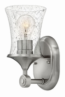 Hinkley 51800BN-CL Thistledown Contemporary Brushed Nickel with Clear Lighting Sconce