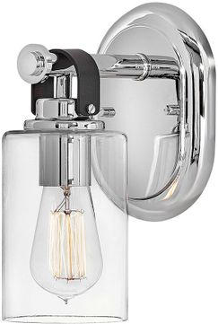 Hinkley 52880CM Halstead Contemporary Chrome LED Wall Mounted Lamp