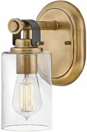 Hinkley 52880HB Halstead Modern Heritage Brass LED Wall Light Sconce