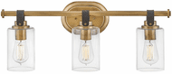 Hinkley 52883HB Halstead Modern Heritage Brass LED 3-Light Bath Sconce