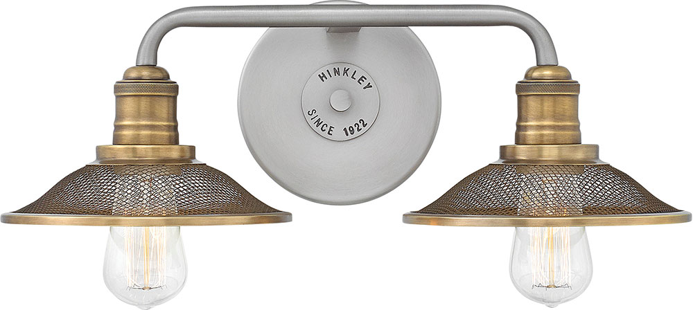 Hinkley 5292AN Rigby Contemporary Antique Nickel 2-Light