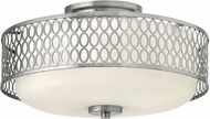 Hinkley 53241BN Jules Contemporary Brushed Nickel Flush Mount Ceiling Light Fixture