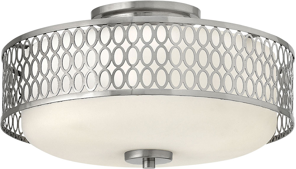 Contemporary Brushed Nickel Flush Mount