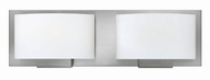 Hinkley 53552BN Mila Contemporary Brushed Nickel Halogen 2-Light Bath Lighting Sconce