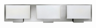 Hinkley 53553BN Mila Modern Brushed Nickel Halogen 3-Light Bathroom Wall Light Fixture