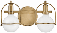 Hinkley 53772HB Somerset Contemporary Heritage Brass LED 2-Light Bathroom Wall Sconce