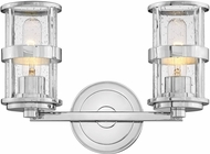 Hinkley 5432CM Noah Modern Chrome 2-Light Bath Sconce