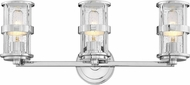 Hinkley 5433CM Noah Contemporary Chrome 3-Light Vanity Light Fixture