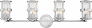 Hinkley 5434CM Noah Modern Chrome 4-Light Vanity Lighting Fixture