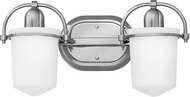 Hinkley 5442BN Clancy Contemporary Brushed Nickel LED 2-Light Bathroom Wall Sconce