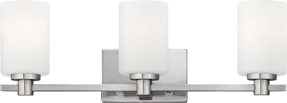 Hinkley 54623bn Karlie Brushed Nickel 3 Light Bathroom Sconce Lighting Loading Zoom