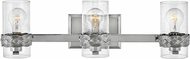 Hinkley 5513PN Nevis Modern Polished Nickel 3-Light Bathroom Vanity Light Fixture