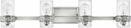 Hinkley 5514PN Nevis Contemporary Polished Nickel 4-Light Bath Lighting Sconce