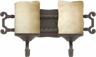 Hinkley 5542OL Casa Olde Black LED 2-Light Bathroom Lighting Sconce