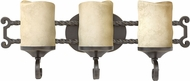 Hinkley 5543OL Casa Olde Black LED 3-Light Bath Lighting Sconce