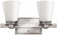 Hinkley 5552BN Avon Contemporary Brushed Nickel LED 2-Light Bath Light Fixture