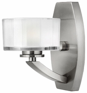 Hinkley 5590BN Meridian 1-Lamp Vanity Light in Brushed Nickel