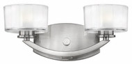 Hinkley 5592BN Meridian 2-Lamp Vanity Light in Brushed Nickel