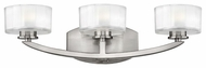Hinkley 5593BN Meridian 3-Lamp Vanity Light in Brushed Nickel