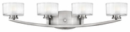 Hinkley 5594BN Meridian 4-Lamp Vanity Light in Brushed Nickel