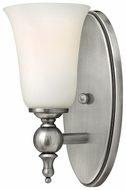 Hinkley 5740AN Yorktown Single Lamp Traditional Nickel Sconce With Shade